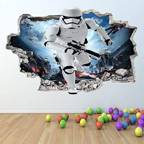 1Stop Graphics Shop Star Wars Wandaufkleber 3D Optik - Jungen Mädchen Schlafzimmer Wandkunst Aufkleber Z420 - Large: 70 cm x 111 cm
