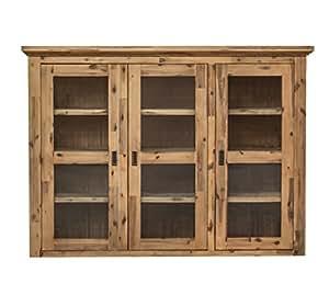 etienne aufsatz f r sideboard mit glast ren holz akazie teilmassiv geb rstet und lackiert b. Black Bedroom Furniture Sets. Home Design Ideas