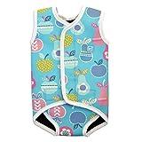Splash About Baby Wrap - Traje de neopreno para niños, color azul, con diseño de tutti frutti, 0-6...
