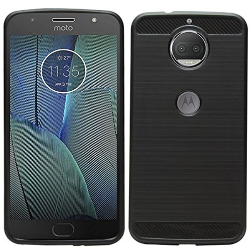 Bluezone MOTO G5S+ Back Cover Black for MOTO G5s plus Carbon Fiber Back Case Cover Black For Moto G5s Plus - Simply Black