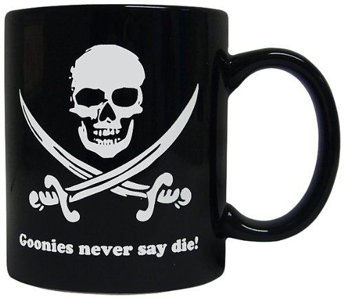 The Goonies Black Never Say Die Ceramic Mug