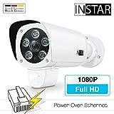 INSTAR IN-9008 Full HD (version PoE) blanc / caméra IP / ONVIF / caméra de sécurité / LAN et PoE / PIR / WDR / détection de mouvement / vision nocturne / grand angle / microphone