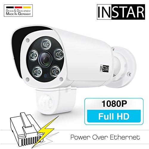 INSTAR IN-9008 Full HD (PoE) weiss - PoE Überwachungskamera - IP Kamera - wetterfeste Außenkamera - Aussen - Alarm - PIR - Bewegungserkennung - Nachtsicht - Weitwinkel - IEEE 802.3af - ONVIF