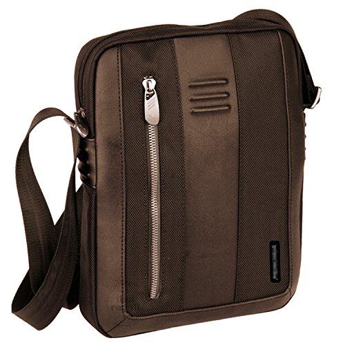 Borsa Tracolla Marrone 28x21x5 Cm Porta Tablet Portatile Ipad Smartphone