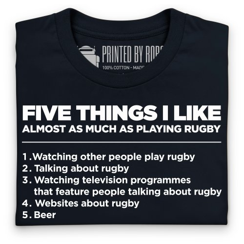 Five Things I Like - Rugby T-Shirt, Herren Schwarz