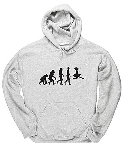 HippoWarehouse - Sweat-shirt à capuche - Homme - gris - XX-Large