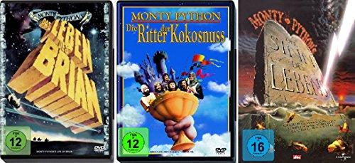 Monty Python Klassiker Collection - 3 Kultfilme (Das Leben des Brian, Die Ritter der Kokosnuss, Der Sinn des Lebens) im Set - D