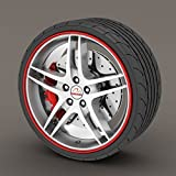 Rimblades Alloy Wheel Edge Ring Rim Protectors Tyres Tire Guard Rubber Moulding (Red Rimblades) - Rimblades - amazon.co.uk