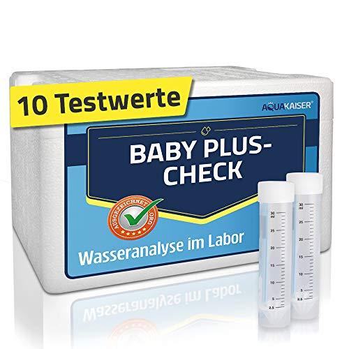 Aquakaiser Wassertest Baby Plus - Laboranalyse auf Bakterien, Schwermetalle, Nitrat. - bei der Zubereitung von Babynahrung mit Leitungswasser
