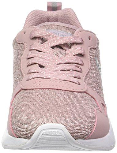 Le Coq Sportif Damen Lcs R600 W Feminine Mesh/S Nubuck Trainer Low Pink (Pale Mauve/old Silver)