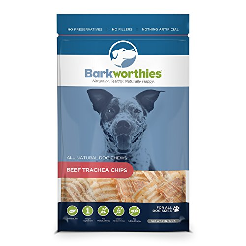 Barkworthies Trachea Chips in Tasche für Haustiere Halsstütze -