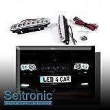 Seitronic® DRL Tagfahrlicht Set, TÜV FREI, Xenon weiß, LED Tagfahrlicht E4 R87, Energieklasse A+