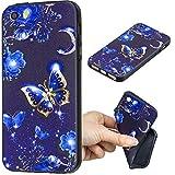 Cozy Hut iPhone SE 5 5S 5G Hülle Silikon Case Schwarz Matt Black mit glänzender Vorderseite Extra Robust TPU Schutzhülle für iPhone SE 5 5S 5G Case Cover - Schmetterlings-Prinzessin