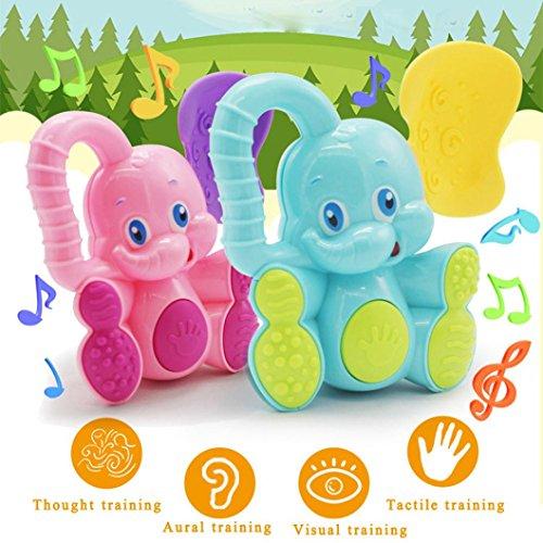Sicherheit Baby Kleinkind Beißring Hand schütteln Bell Ring lustige pädagogische Elefant Spielzeug