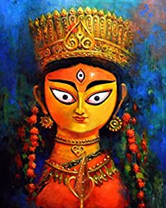 Tallenge Indian Art Painting Collection Durga Poster Poster Paper 12 X 17 Inch Small