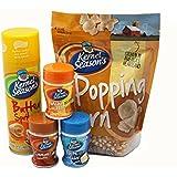 Popcorn Party Pack - Includes Popcorn kernels, Popcorn seasoning & Butter Spritzer