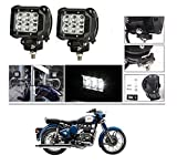 #3: AutoStark 6 LED Fog Light / Work Light Bar Spot Beam Off Road Driving Lamp 2 Pcs 18W Cree For Royal Enfield Classic 350