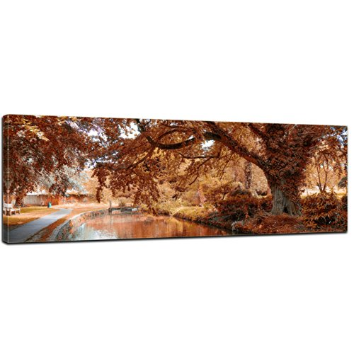 Bilderdepot24 Kunstdruck Panorama - Indischer Sommer - Bild auf Leinwand - 120x40 cm - Leinwandbilder - Bilder als Leinwanddruck - Wandbild
