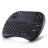 CSL - Mini Wireless Keyboard inkl. Touchpad (Maus) | Funk Tastatur 2,4GHz / Multifunktionsboard/Fernbedienung | 92 Tasten / QWERTZ (deutsches Layout) | 2 dpi Stufen | PC / Notebook / Media Center