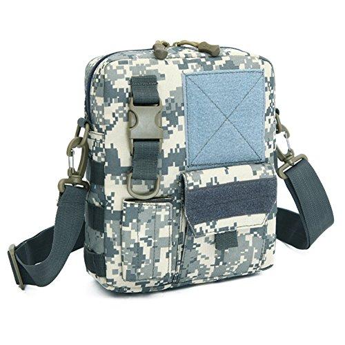 YAAGLE Herren Schultertasche Briefträger Kleine praktische Umhängetasche Militär Fans Messenger Bag für iPad Air, iPad Mini Tarnung #2