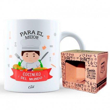 Mr Cool Taza en Caja Regalo en Mensaje para el Mejor Cocinero ¡del Mundo, Cerámica, 15x10x5 cm