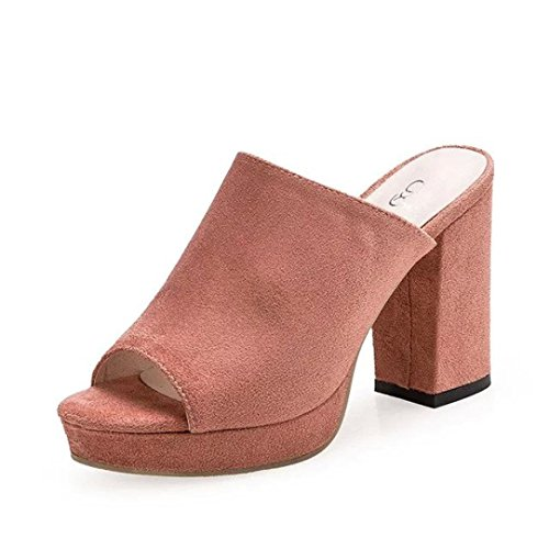 ESAILQ Femmes Sangle De Cheville Chaussures Plate-Forme Frotter Peep Toe Sandales