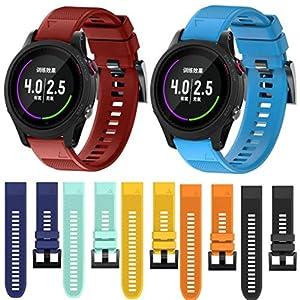 Malloom Silicagel de repuesto suave de liberación rápida kit correa de banda para Garmin Forerunner 935 GPS Watch de Malloom