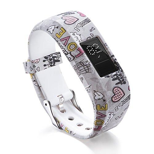 Suweqi Ersatz Armband Uhrenarmbänder - Weiches Silikon Uhrenarmband Für Garmin VivoFit JR / JR2 Junior Activity Tracker