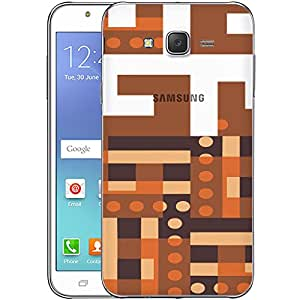 Digione designer Back Replacement Texture Plastic Cover Panel Battery Cover Snap on Case Cover for Samsung Galaxy J7 2015 ID:J8581