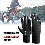 Ykop Winterhandschuhe Fahrrad wasserdichte Fahrradhandschuhe Touchscreen-Handschuhe Regenfest Sporthandschuhe mit Warmem Futter Unisex (M(EU))