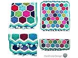 Babydecke Kinderwagendecke Hexagon Decke Häkeldecke ~ reine Handarbeit