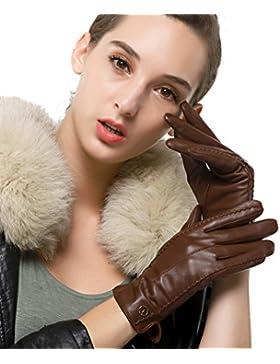 nappaglo donne classico vera nappa, guanti di pelle puro cashmere in inverno caldo semplici guanti (touchscreen...