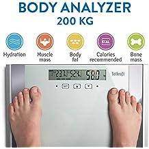 Tatkraft Fitness Báscula Digital Analizador de Grasa y Masa Muscular Corporal 200 KG / 440 LBS