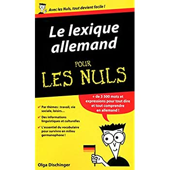 Le Lexique allemand Guide de conversation Pour les Nuls