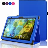 BQ Tablet Edison 3 10.1 Inch Case, ACdream Folio Premium PU Leather Cover Case for BQ Edison 3 10.1 inch tablet, Royal Blue