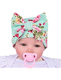 Fletion Bambino Print Bowknot Berretto di Cotone Bambino Cuffia Cappello  Bambino Neonato Berretti di Cappelli di 1807dbc5a602