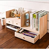 ZMSJ-YJ Simple Bookshelf Desktop Racks Simple Modern Desk Multi-Layer Student Bookcase Estantería para Estudiantes