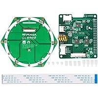 MakerHawk - Kit de 6 micrófonos de Audio Circular (Incluye Accesorio de Voz Hat 6 micrófonos de Array), basado en AC108 AD AC101 DAC Chip AI Voice Aplicaciones Raspberry PiZero/Zero/W/3B/2B/B+
