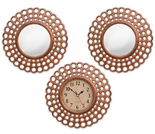 TiedRibbons Wall Clock and Mirror Set