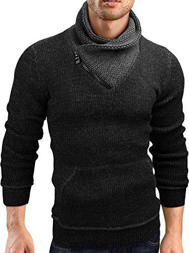 Grin&Bear Slim fit Pullover Grobstrick Strickjacke Herren, GEC570