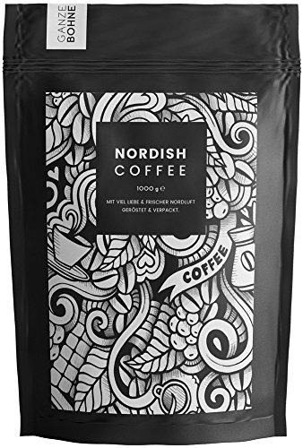 Nordish.Coffee Lively – 1 kg Kaffeebohnen – Premium Kaffee Ganze Bohnen – Fair und Direkt –...