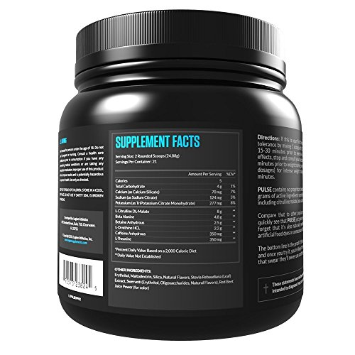 Legion Athletics Pulse Pre Workout Supplement – Best Nitric Oxide Preworkout Drink For Men And Women to Boost Energy & Endurance. Creatine Free, All Natural, Safe & Healthy, 21 Servings (Fruit Punch)