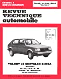Revue technique de l'Automobile : Talbot et Chrysler-Simca horizon, LS, GL, GLS, S, SX, jubilé et premium
