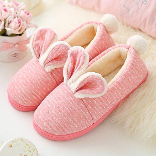 DogHaccd pantofole,Il cotone pantofole, alta-package con spessi autunno soggiorno delizioso caldo inverno coppie antiscivolo pantofole di peluche Il rosso3