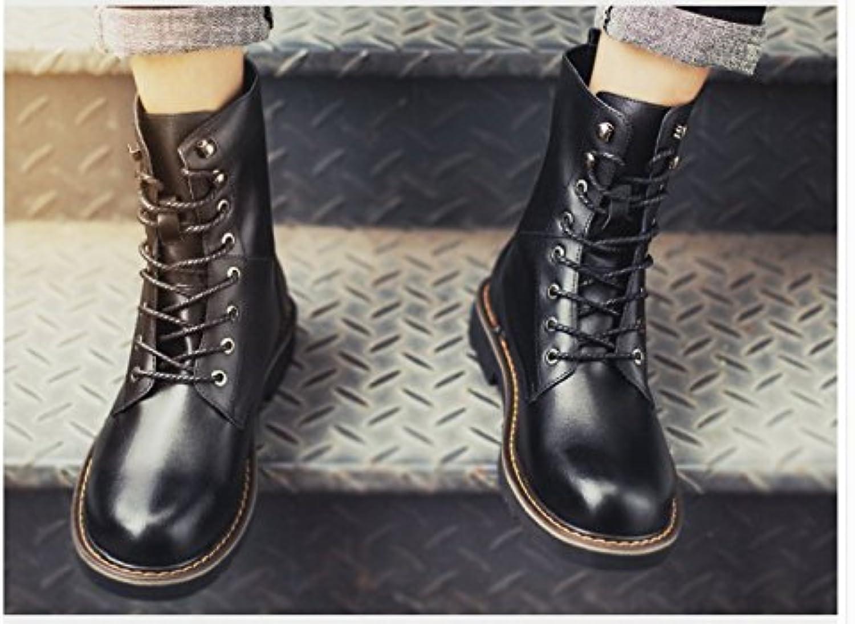 HL PYL   Männer Martin Stiefel  um zu helfen  die schneefeld kurze Stiefel zu warme und weisshe Böden  43  Schwarz
