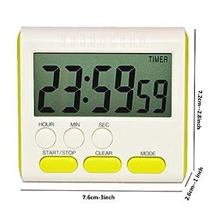 Digitaler Mini-Wecker für Küchengeräte, Zeitschaltuhr, 24-Stunden-Countdown-Timer für Kochen, Studium, Sport, Meeting…