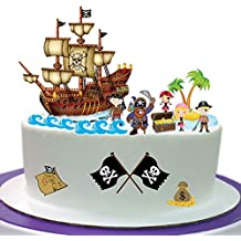 Pirata Escena hecho de papel comestible perfecto para la decoración de tu cumpleaños Cakes- fácil de