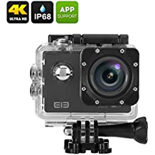 Generico Elephone ELE Explorer 4K Action Camera - 16MP Sensor, 170 Degree View, 2 Inch Display, IP68 Case, Wi-Fi (Black)