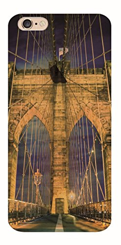 MPPK-Hamburg ® Apple iPhone ® 6 / 6s 4,7 Zoll Schutz Hülle - Case in wunderschönem Design – Stabiles / transparentes PC - Verschneites Gebirge Brooklyn Bridge