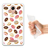 Wiko Tommy 2 Hülle, WoowCase Handyhülle Silikon für [ Wiko Tommy 2 ] Donuts Handytasche Handy Cover Case Schutzhülle Flexible TPU - Transparent
